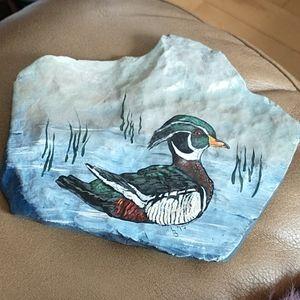 🇨🇦Gorgeous hand painted garden rock